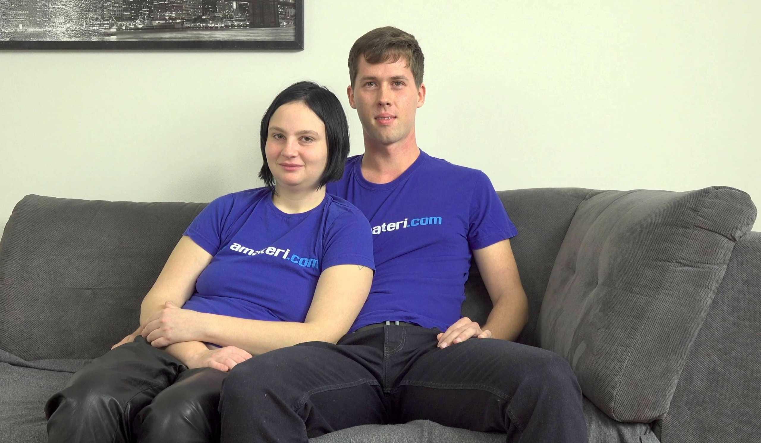 [AmateriPremium] (Jana P.) (Shy amateur couple shows their sex skills / 02.17.2020)
